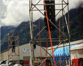 A DVA system for Gotthard Tunnel Ceremony