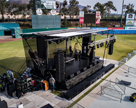 A VIO system for Snoop Dogg's tour in California