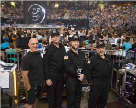 Clair Brothers Congratulate Garth Brooks on his Record-Breaking Tour