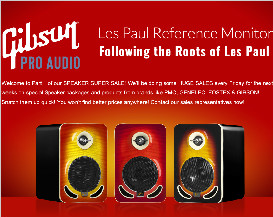 Part 1 of our SPEAKER SUPER SALE! Big sale on GIBSON!